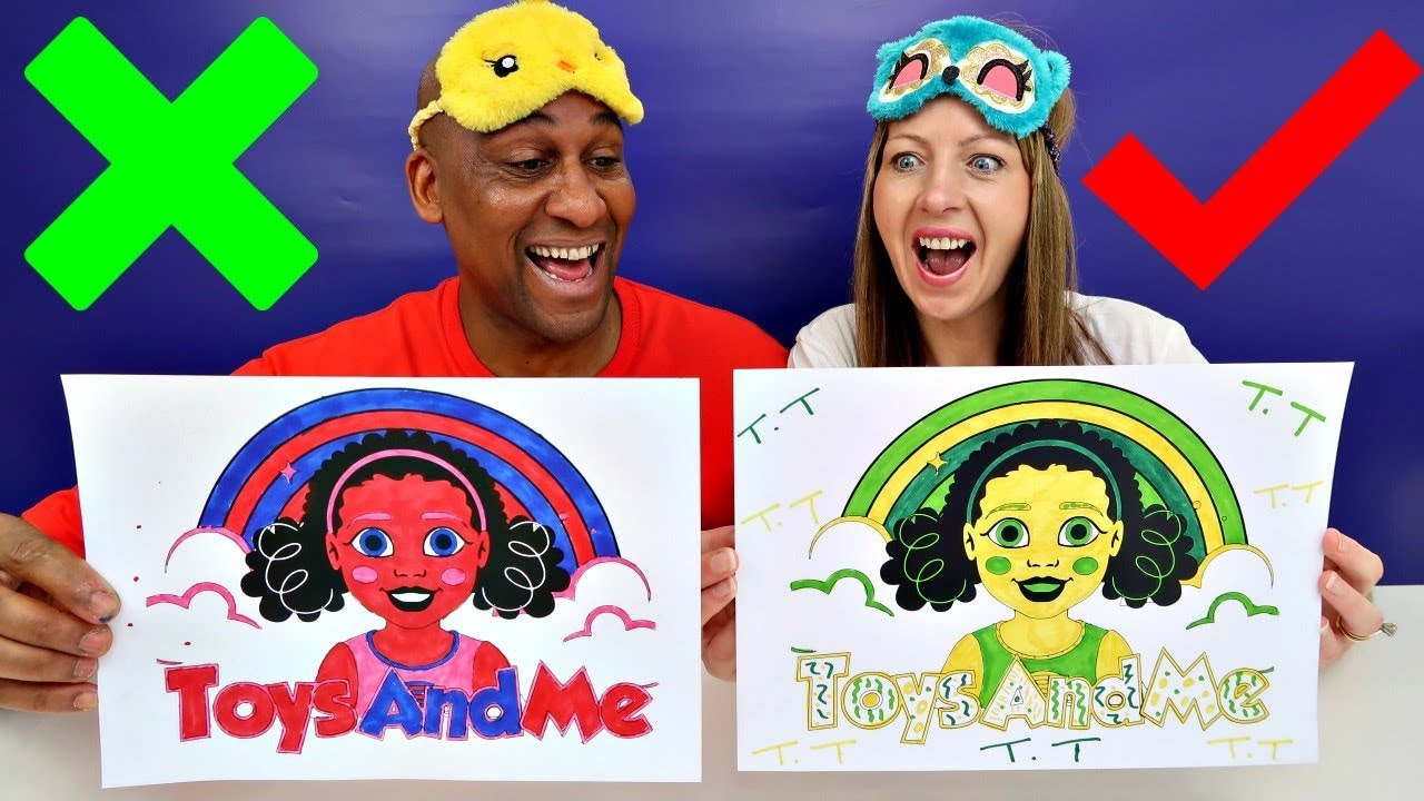 3 marker challenge  mommy vs daddy  toys andme  youtube