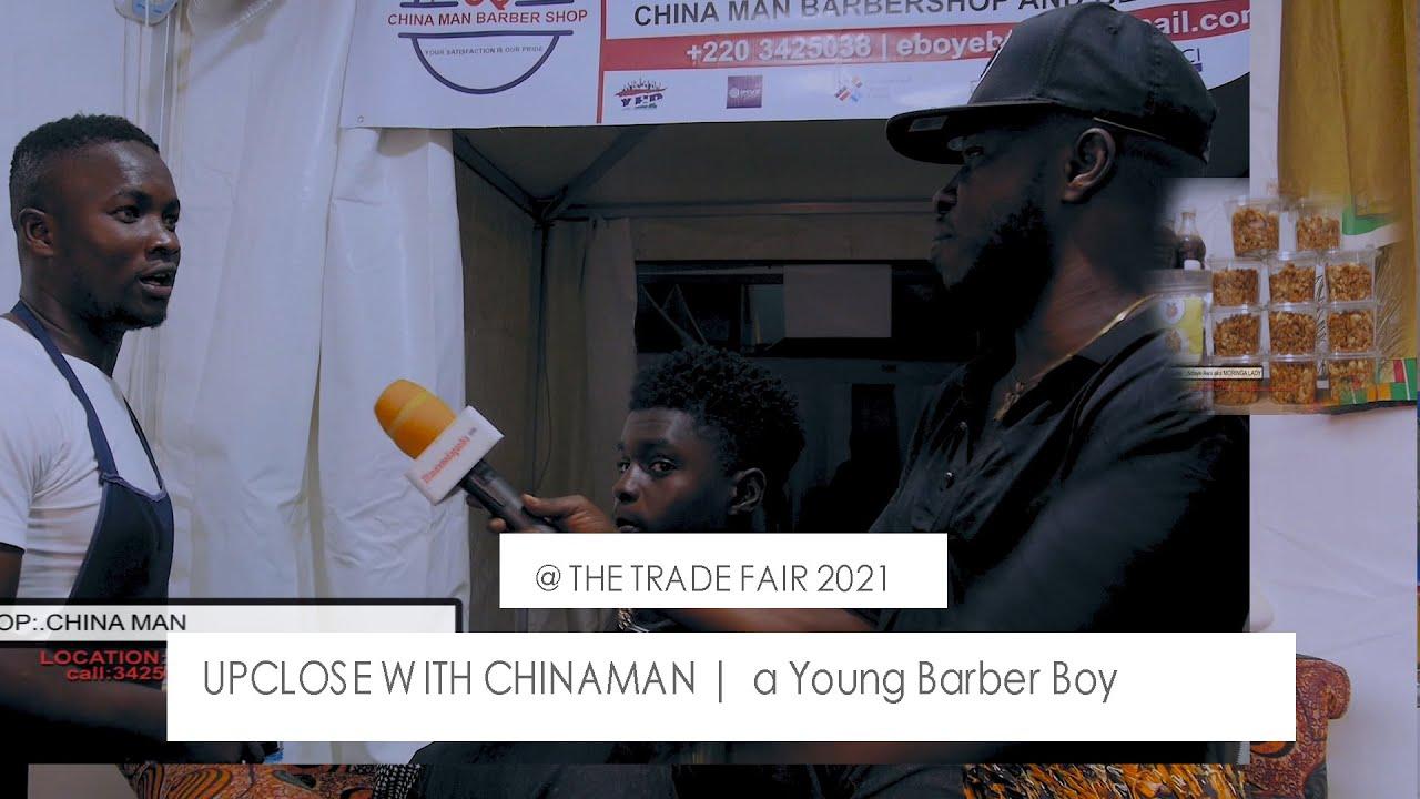CHINA MAN THE BAKOU BARBER BOY |a Young Barber Boy   | at The Stadium 2021 TRADE FAIR