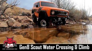 All-Terrain Ready! Redcat Racing Gen8 Scout II Scale Crawler Water Crossing & Climb