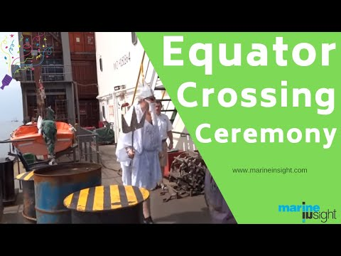 Male & Female Seafarers Equator Crossing Ceremony