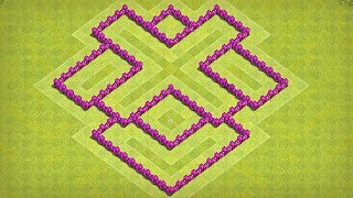 New TH6 War/Trophy Base | Best Town Hall 6 Defense Base Layout | Clash of Clans