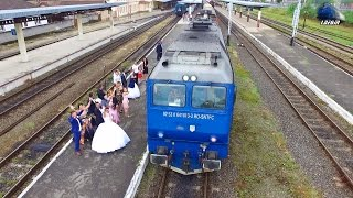 [Drone] Mireasa, Mire & Trenuri/Bride, Groom & Trains in Gara Oradea Station - 10 June 2016