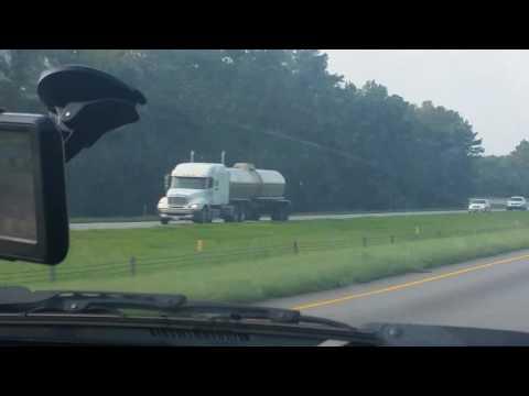 Freightliner Columbia 120 tanker truck hauling gas