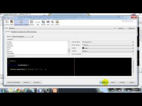 Cambiar tamaño de letra y fondo en NetBeans IDE