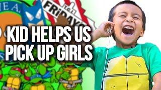 Kid Helps Us Pickup Girls
