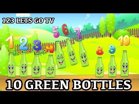 10 Green Bottles Hanging on The Wall - Kids Songs Nursery Rhymes
