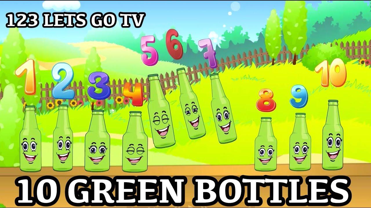 10 Green Bottles Hanging On The Wall Kids Songs Nursery Rhymes