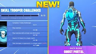 *NEW* SKULL TROOPER & SKULL RANGER Gameplay! Unlocking GHOST PORTAL LIVE! (Fortnite Battle Royale)