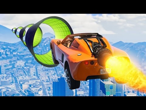 WORLD'S HARDEST ROCKET CAR RACE! (GTA 5 Funny Moments)