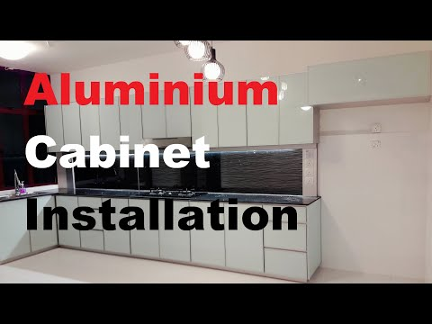 Fully Aluminium Kitchen Cabinet Installation (4 hours) | 16 minutes of Full HD