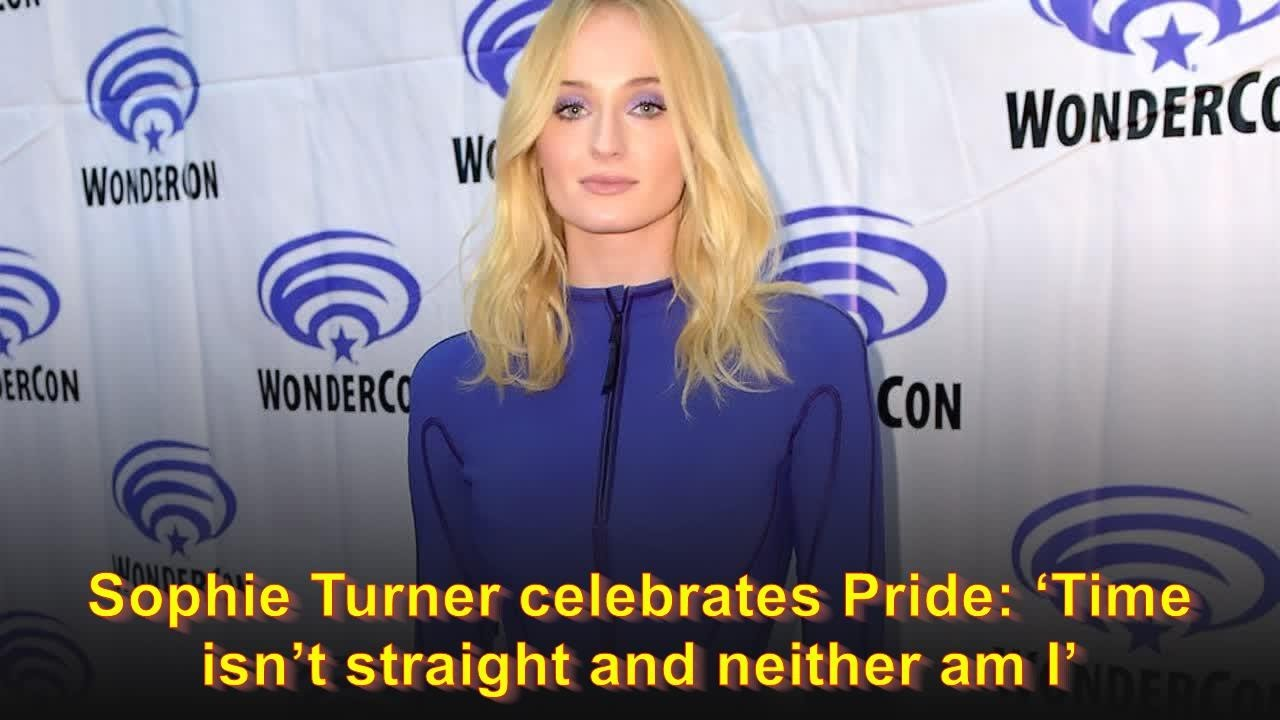 Sophie Turner celebrates Pride: 'Time isn't straight and neither am I'