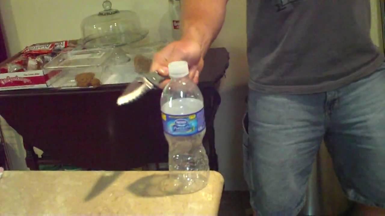 spyderco endura 4 empty bottle cut test