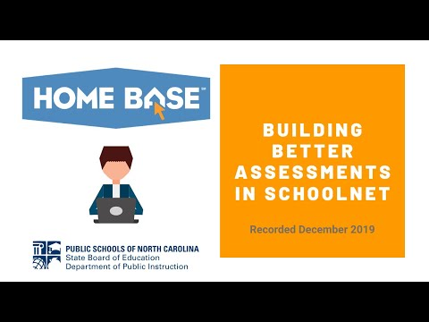 Building Better Assessments In Schoolnet
