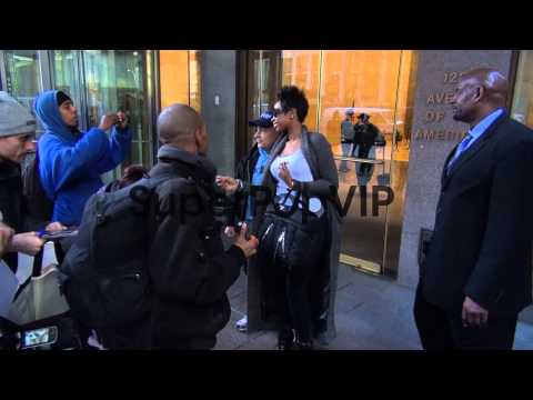 Jennifer Hudson with fans at the McGraw-Hill Building at ...