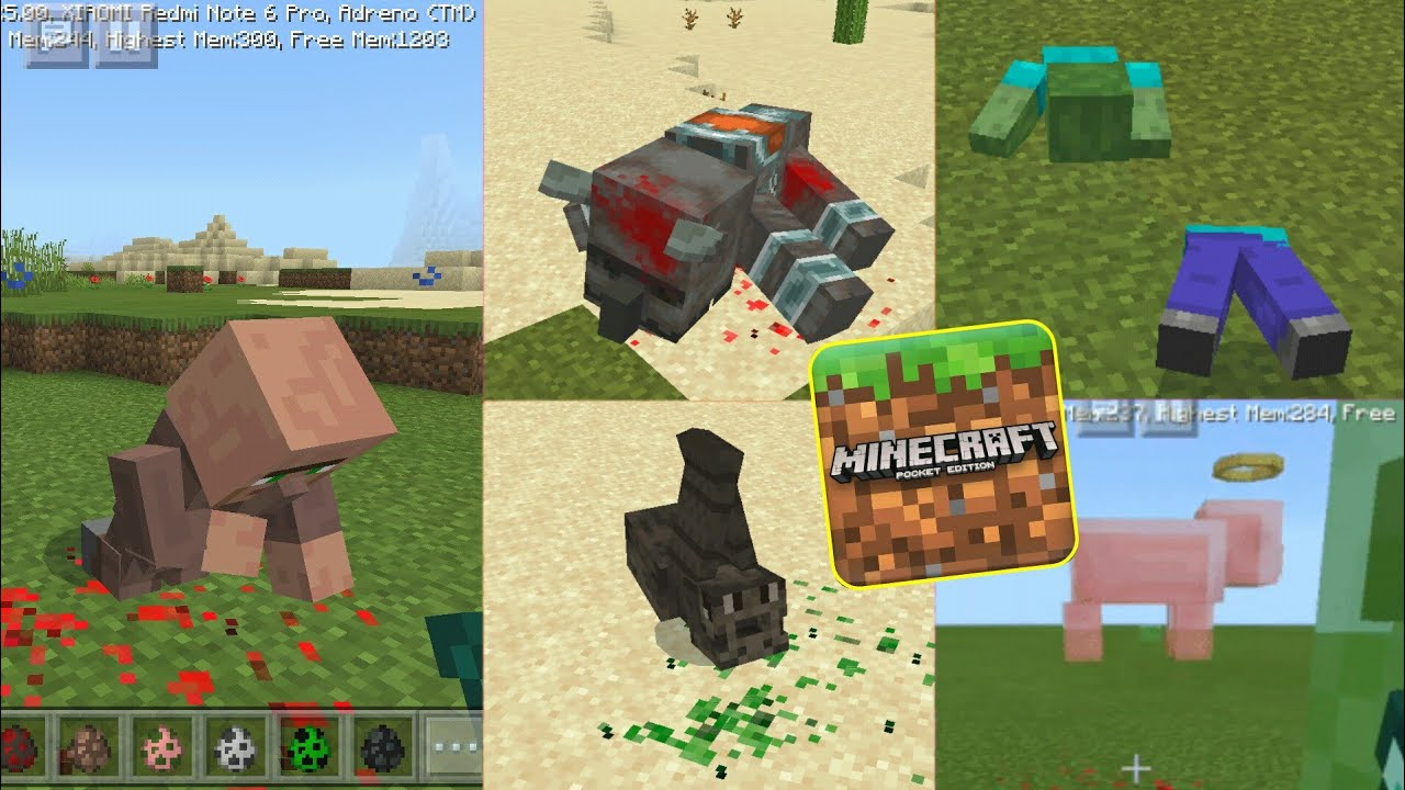 NOVAS ANIMAÇÕES PARA MINECRAFT PE 1.13.0.9 – Custom Death Entities Animation Addon MCPE 1.13+