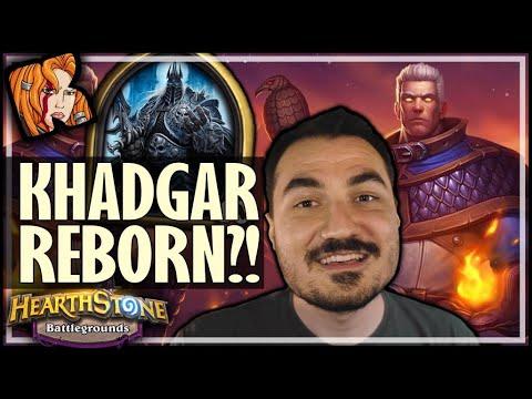 LICH KING LOVES KHADGAR?! - Hearthstone Battlegrounds thumbnail