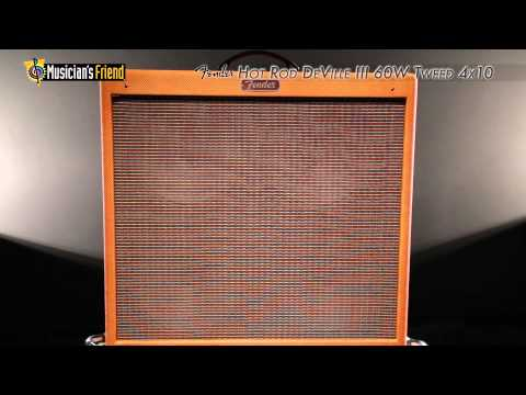 Fender Hot Rod DeVille III 60W Tweed 4x10 Tube Guitar Combo Amp