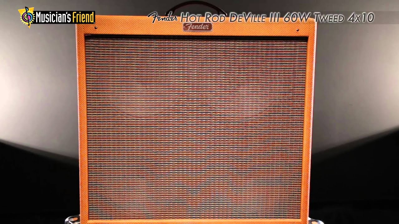 Fender 4x10 Guitar Cabinet Fender Hot Rod Deville Iii 60w Tweed 4x10 Tube Guitar Combo Amp