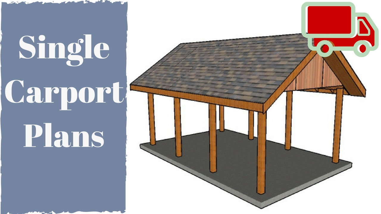 One car carport plans youtube for 4 car carport plans