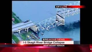 [full] Moment I-5 Skagit River Bridge Collapses In Washington