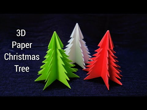 3D Paper Christmas Tree | How to Make a 3D Paper Xmas Tree DIY Tutorial | Holiday Craft| Xmas tree