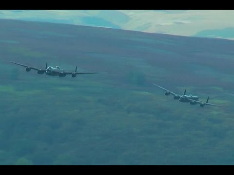 THE TWO LANCASTERS OVER DERWENT RESERVOIR