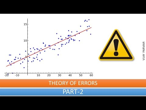 Lecture 13 | THEORY OF ERRORS  - हिंदी | PART 2