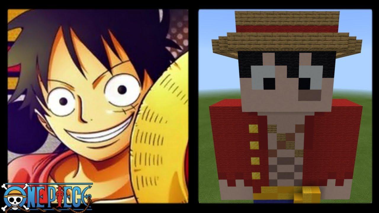 Minecraft  Monkey D. Luffy Skin Statue  One Piece