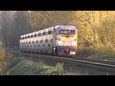 Trains BC 2016: West Coast Express W5 Near Mission BC Canada 30MAR16 F59PHI 904 As Power