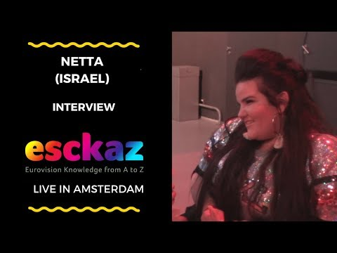 ESCKAZ in Amsterdam: Interview with Netta (Israel at the Eurovision 2018)