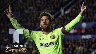 El hat trick de Messi en modo Súper Messi que hace líder al Barcelona | Telemundo Deportes