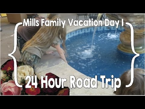 Mills Family Vacation Day 1 - 24 Hour Road Trip - YouTube