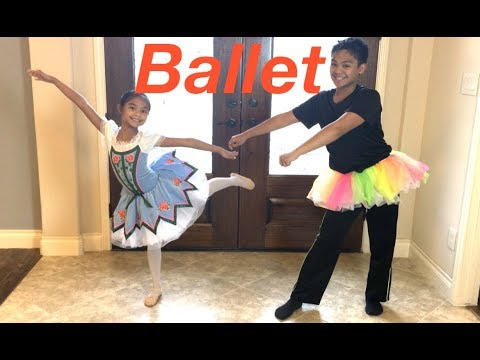 Siblings BALLET Dance OFF | Toys Academy