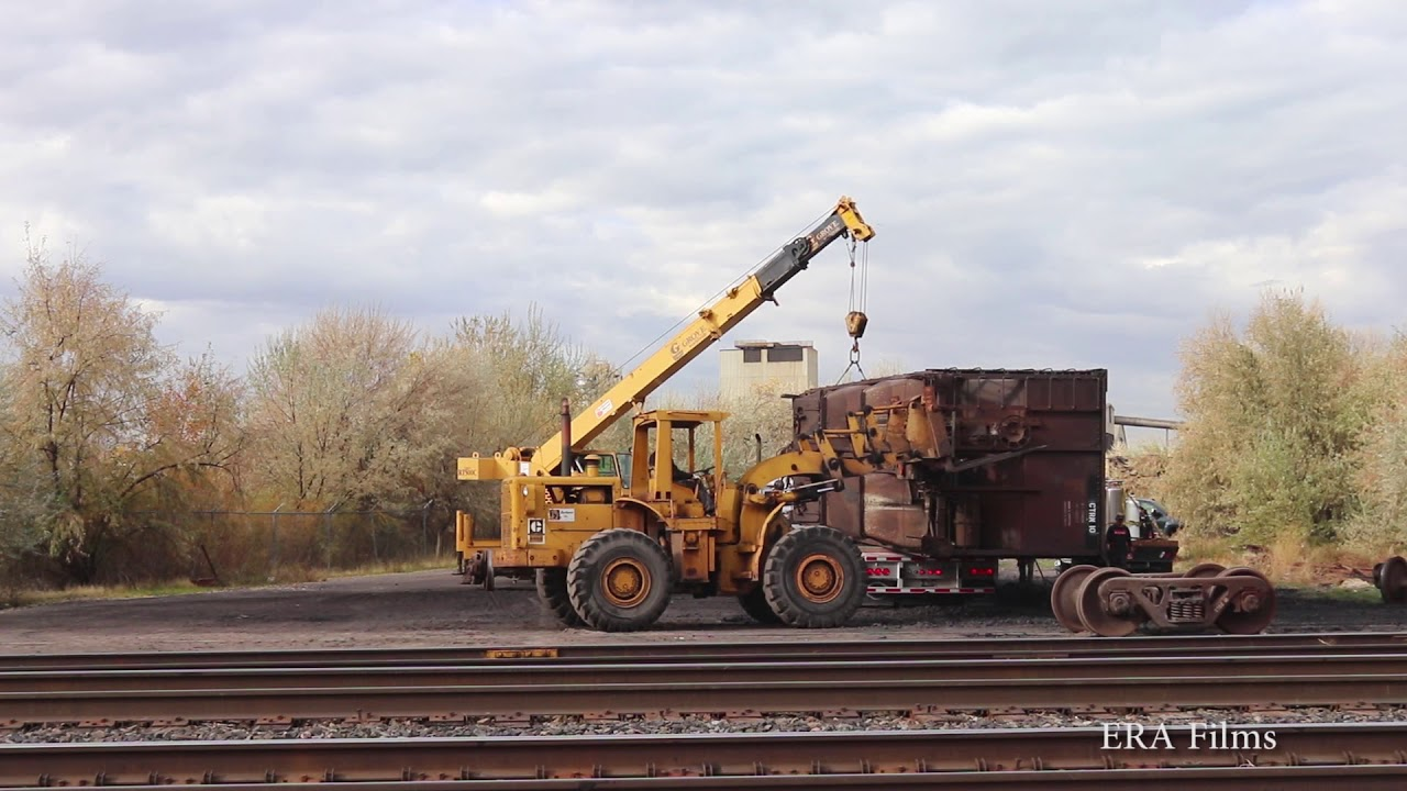 Scrapping Freight Cars - YouTube