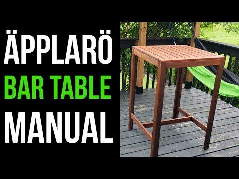 IKEA ÄPPLARÖ Bar Table - Manual - Assembly Instructions | Outdoor Table