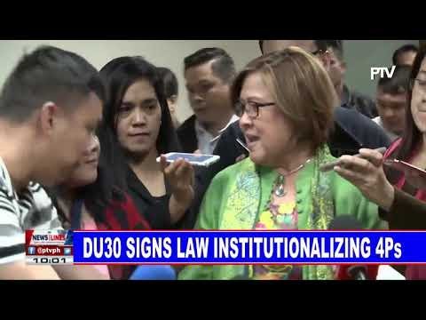 PRRD signs law institutionalizng 4Ps