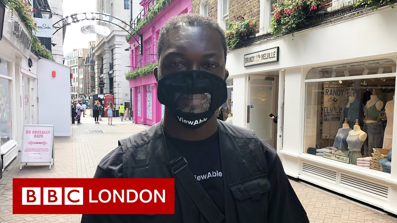 Deaf accessibility: 'If you use a mask that covers your lips I will not understand you.'- BBC London