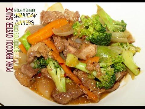 PORK BROCCOLI OYSTER SAUCE: Asian Americas Dinners