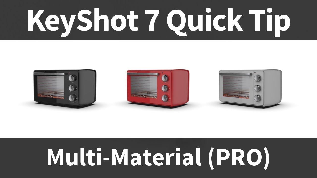 KeyShot Quick Tip: Multi-Materials (PRO)