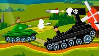 Стальной Босс с Кидом в Hills of steel #1 Советские монстры  Игра из серии мультики про танки