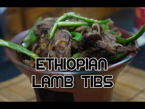 Ethiopian Lamb Tibs Recipe Video - Amharic Sweet Peppers