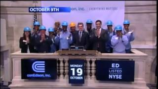 Con Edison Hero Rings NYSE Closing Bell