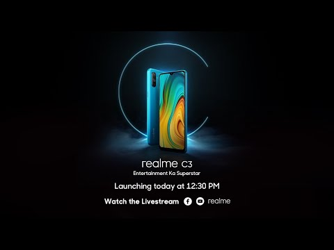Watch the Realme C3 Launch Event