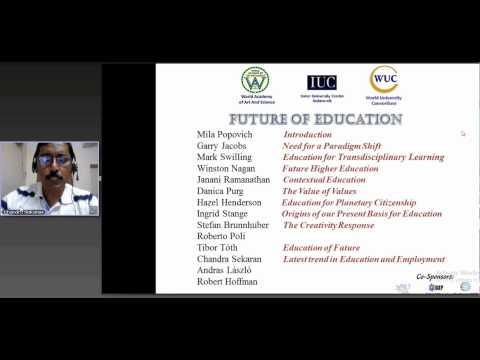 Chandra Sekaran_Webinar on Future of Education_Latest trend in Education and Employment