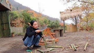 可愛小美女生活在叢林,自己動手解決,吃住都是原生態,又好看又能幹【南方小蓉】