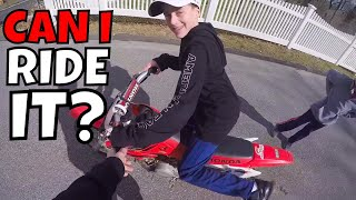 Crazy Kid Steals Dirt Bike