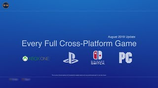 Every Ps4 Xbox One Cross Platform Games!  Current And Confirmed To Get It