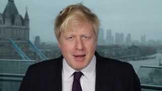 Мэр Лондона Борис Джонсон поздравляет Масленица 2014