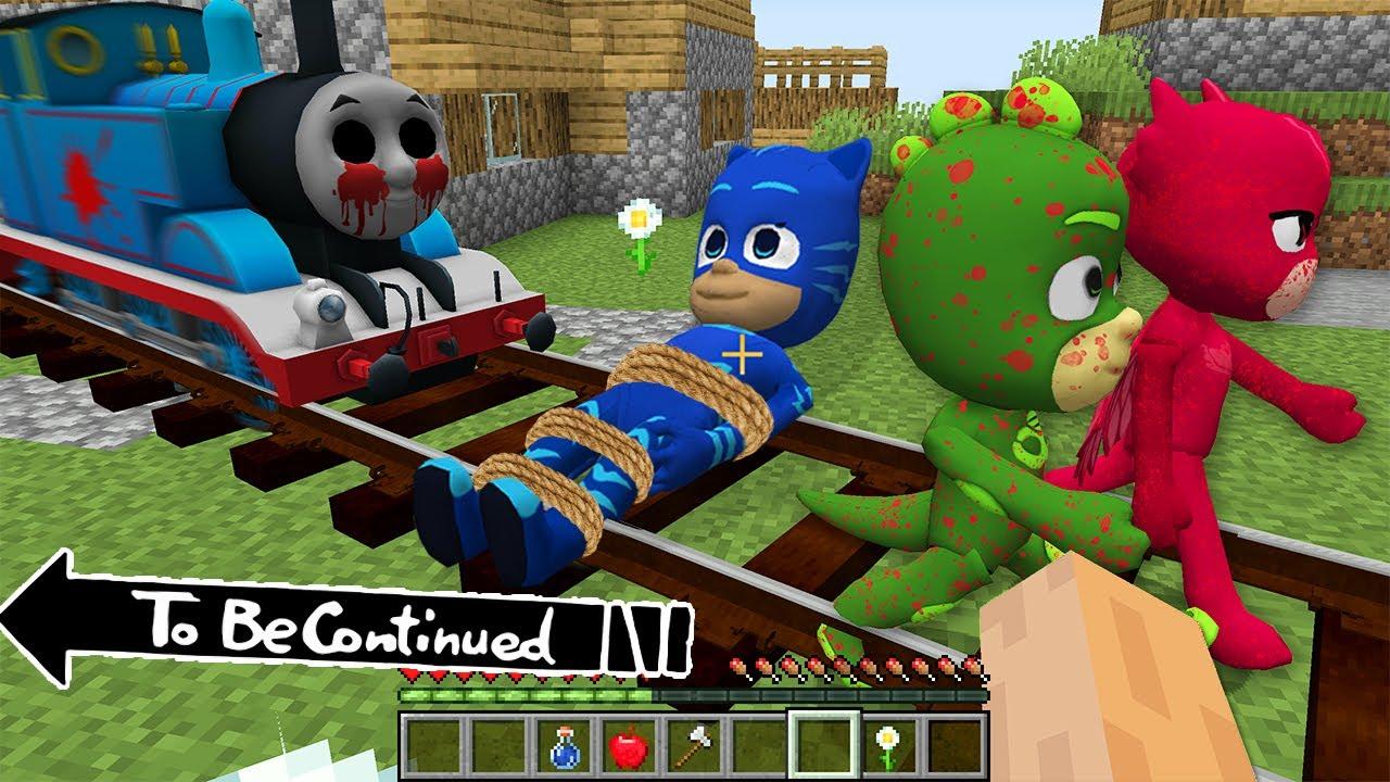 Thomas THE TANK ENGINE.EXE vs PJ MASKS in Minecraft - Coffin Meme Paw Patrol