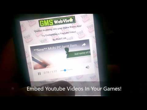 GMSWebView Game Maker Studio Android Extension Demo App